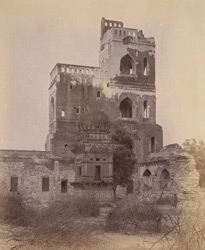 View from the north of the Sat Manzili, Bijapur